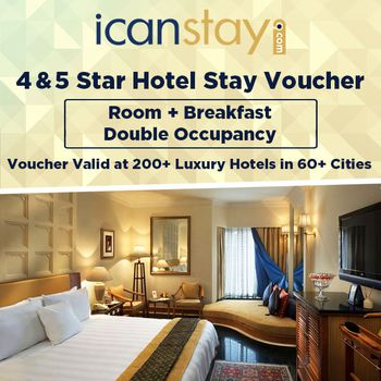 icanstay Luxury Stay Voucher for 2 + 1 Child - Continental Plan