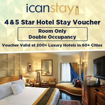 icanstay Luxury Stay Voucher for 2 + 1 Child - European Plan