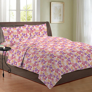 Bombay Dyeing Double Bedsheet with 2 Pillow Covers - 2692