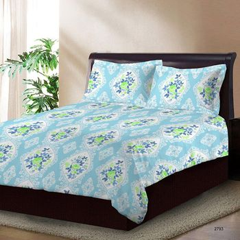 Bombay Dyeing Double Bedsheet with 2 Pillow Covers - 2793
