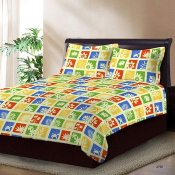 Bombay Dyeing Double Bedsheet with 2 Pillow Covers - 2796