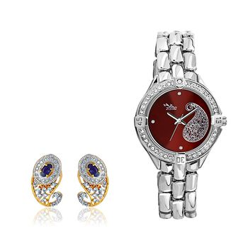 ILINA Ladies Watch & Earrings Set