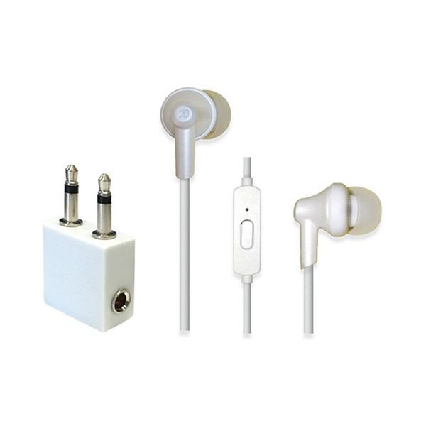 Travel Ready In-Ear Headphones with Mic & Airline AdapterImage