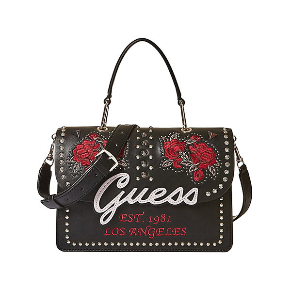 Guess IN LOVE Embroidery and Studs Flap Bag Image