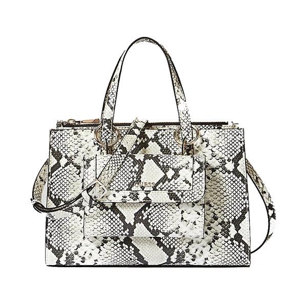 Guess SIENNA Python Print Satchel Bag Image