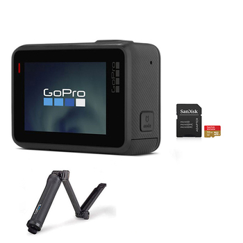 GoPro HERO Camera(2018)+ 3-Way Mount + SanDisk microSD Card 32GB