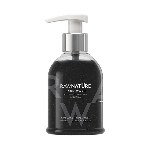 Raw Nature Activated Charcoal & Quinoa Face Wash 170g Image