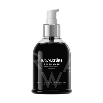 Raw Nature Bamboo Charcoal & Acai Oil Beard Wash 170g