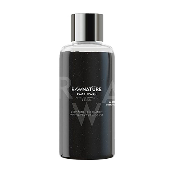 Raw Nature Activated Charcoal & Quinoa Face Wash 60g Image