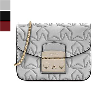Furla METROPOLIS Mini Crossbody in Quilted Leather