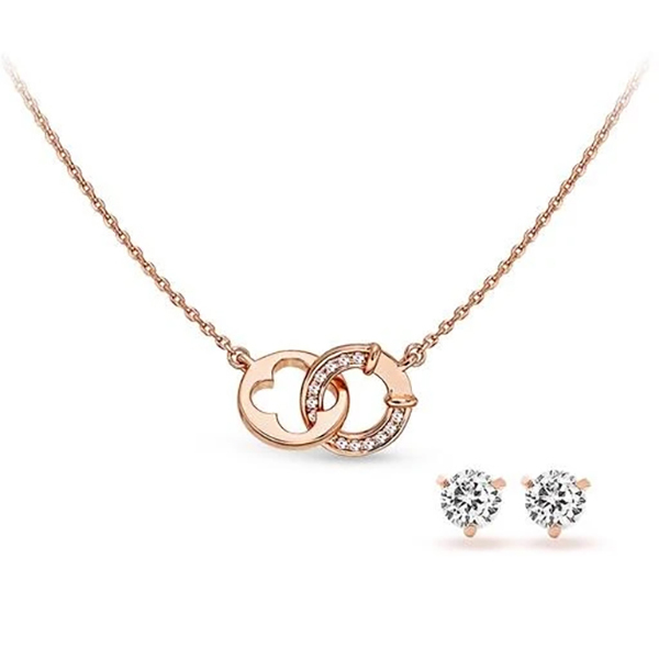 Pica LéLa LUCKY & WISH Crystal Pendant Necklace & Earrings SetImage