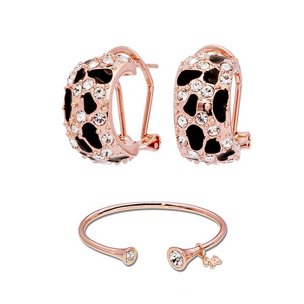 Pica LéLa MYSTIQUE Crystal Enamel Earrings & Bangle Set Image