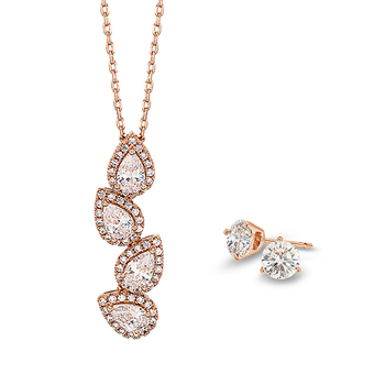 Pica LéLa SWEET MOMENTS Crystal Pendant Necklace & Earrings Set