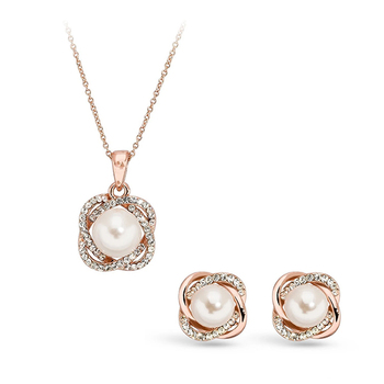 Pica LéLa GRACE Crystal Pendant Necklace & Earrings Set