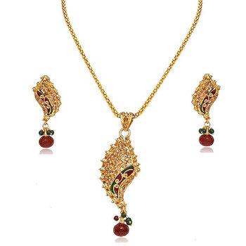 SURAT DIAMOND Fancy Shaped Pendant Necklace & Earrings Set