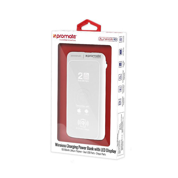 Promate AURAVOLT-10 Wireless Charging Power Bank 10000mAhImage
