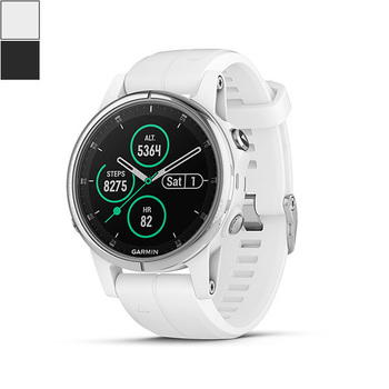 Garmin fēnix® 5S Plus GPS Watch - Sapphire Lens + Silicone Band