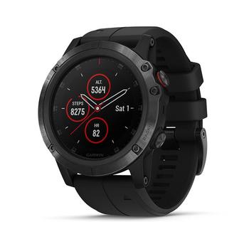 Garmin fēnix® 5X Plus GPS Watch - Sapphire Lens + Silicone Band
