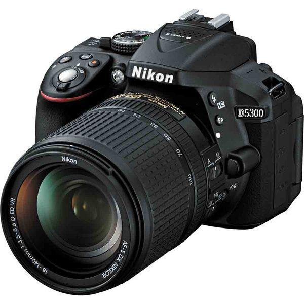 Nikon D5300 DX Format DSLR Camera with 18-140mm Lens Kit Image