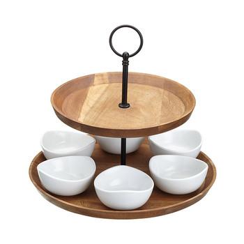 KitchenCraft ARTESÀ Appetiser Two Tier Serving Set