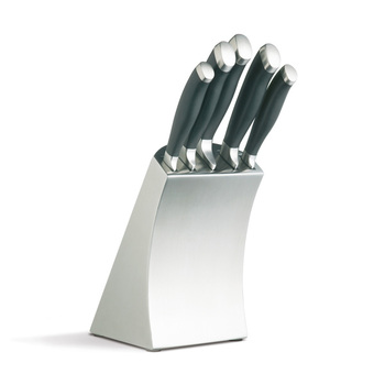 MasterClass TROJAN Stainless Steel Block with 5 Knives