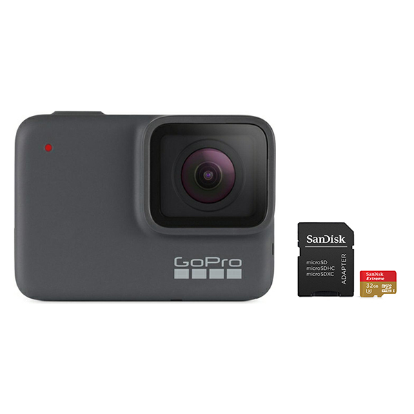 GoPro HERO 7 Camera (Silver) with SanDisk microSD Card 32GB Image