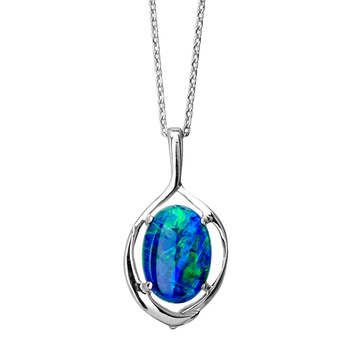 Wellington Classic Necklace with Triplet Opal Pendant