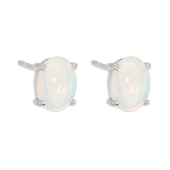Wellington Classic Earstuds with Solid Opal