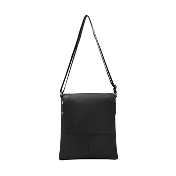 HOLEE Leather Flap Over Crossbody Bag A-102