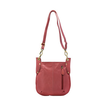 HOLEE Leather Zipfront Crossbody Bag A-103