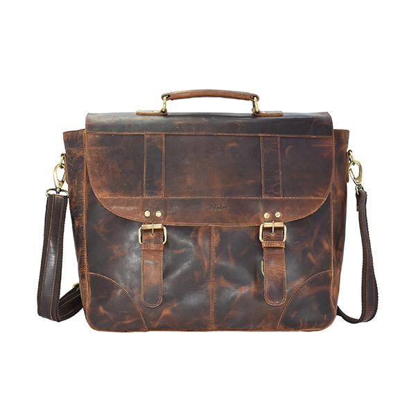 HOLEE Leather Crossbody Travel Bag L-163 Image