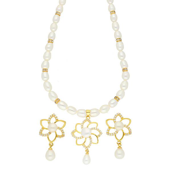 Sri Jagdamba Pearls MODESTY Necklace & Earrings Set JPSEP-18-55 Image