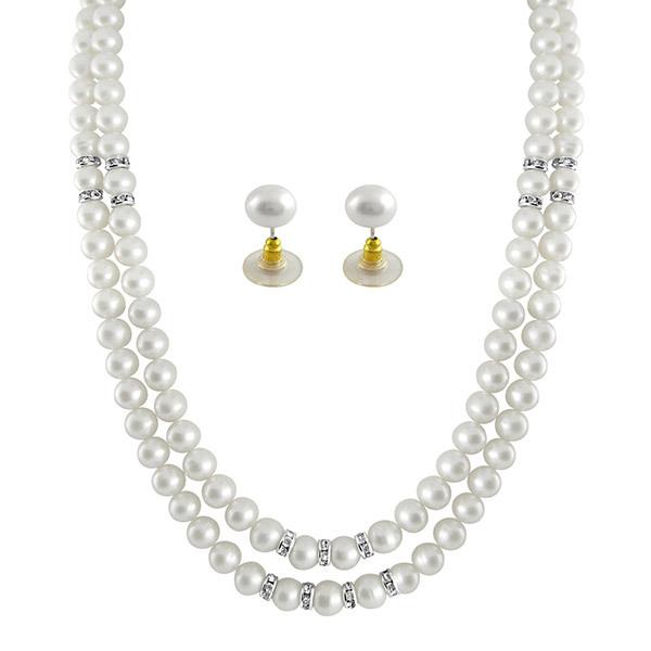 Sri Jagdamba Pearls 2-Line Necklace & Earrings Set JPSEP-062 Image