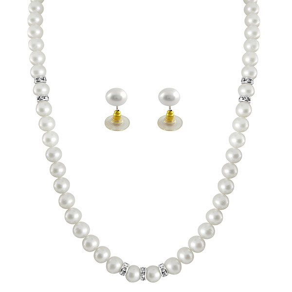 Sri Jagdamba Pearls Necklace & Earrings Set JPSEP-063 Image