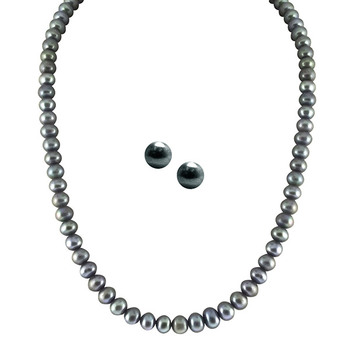 Sri Jagdamba Pearls Necklace & Earstuds Set SJPJA-227