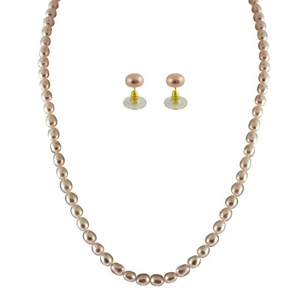 Sri Jagdamba Pearls Necklace & Earstuds Set SJPJA-247 Image
