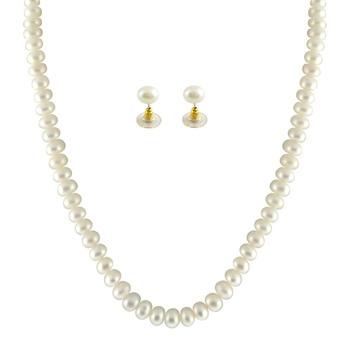 Sri Jagdamba Pearls Necklace & Earstuds Set SJPJA-265