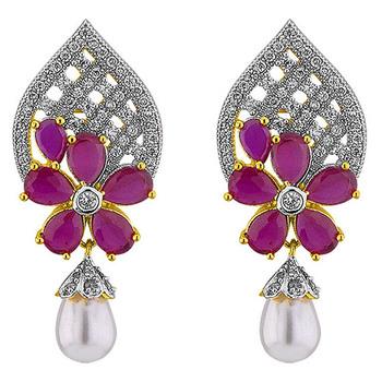 Sri Jagdamba Pearls Vibrant Earrings JPAPL-16-027