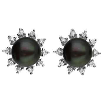 Sri Jagdamba Pearls Sterling Silver Earstuds JPAUG-18-63