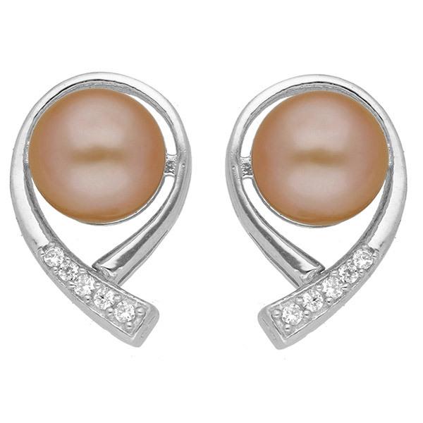 Sri Jagdamba Pearls Sterling Silver Pearl Earstuds JPAUG-18-72 Image