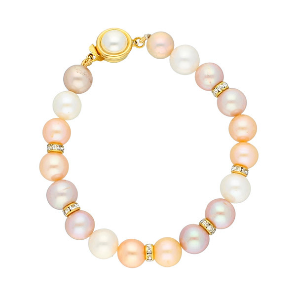 Sri Jagdamba Pearls Multicolor Pearl Bracelet JPJUN-18-223 Image