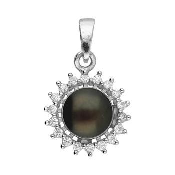 Sri Jagdamba Pearls Silver Black-Pearl Pendant JPAUG-18-105