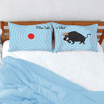 Stoa Paris PILLOW FIGHT Target Bull Pillow Cover Set - 2pcs