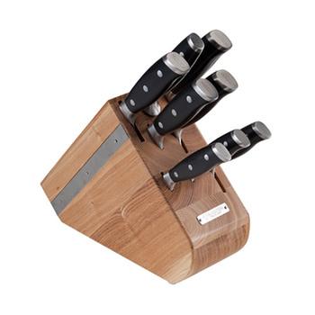 Diamond Sabatier Block with 7 INTEGRA Knives + Sharpener