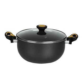 Meyer SKYLINE Non-Stick Biryani Pot with Glass Lid 24cm