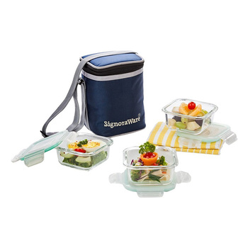 SignoraWare DIRECTOR Glass Lunch Box Set - 3pcs