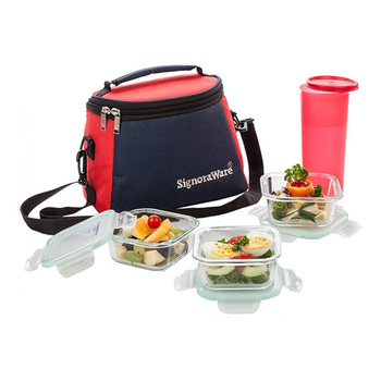 SignoraWare BEST Glass Lunch Box Set - 4pcs