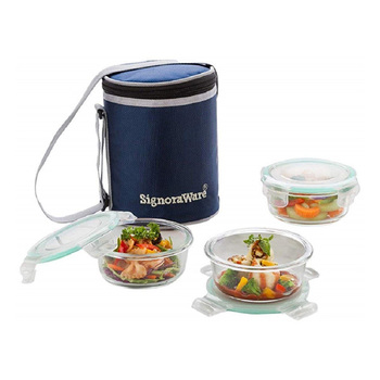 SignoraWare EXECUTIVE Glass Lunch Box Set - 3pcs