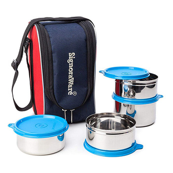 SignoraWare EXECUTIVE MAX FRESH Steel Lunch Box Set - 4pcs