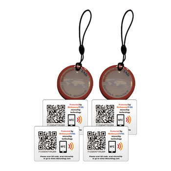 ReboundTAG Protector Key Ring & Adhesive TAGs Multi-Pack